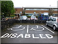 H4572 : Disabled parking places, Omagh by Kenneth  Allen