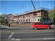 SO8554 : Construction site at Sidbury by Philip Halling