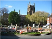 SO8554 : Archaeology dig in the centre of Worcester by Philip Halling