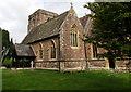 SO5824 : SE corner of  St Bridget's church, Bridstow by Jaggery