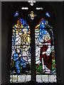 TG4802 : WW2 Memorial Window in Belton church by Adrian S Pye