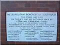 TQ3278 : 1945 plaque, former council offices, Penrose Street by Stephen Craven
