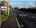 ST3247 : Start of the 40mph speed limit along the A38 Bristol Road, Highbridge by Jaggery