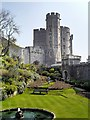 SU9677 : Windsor Castle, Middle Ward below Round Tower by David Dixon