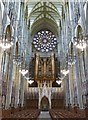 TQ1906 : Lancing College Chapel - Nave and west end by Rob Farrow