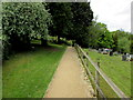 ST7859 : Path past Freshford Cemetery by Jaggery