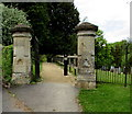 ST7859 : Stone gateposts at the edge of The Tyning, Freshford by Jaggery