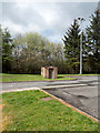NS8533 : Brick-built structure at Happendon Services by Trevor Littlewood