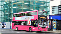 J3674 : Bus, Connswater, Belfast (May 2015) by Albert Bridge