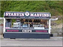 TG2142 : 'Starvin Marvins' beach kiosk, Cromer by ruth e