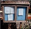 SU2526 : West Tytherley Parish Council notice board in West Dean by Jaggery