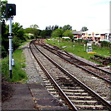 SU3521 : Signal E885 at the NW edge of Romsey railway station by Jaggery