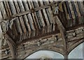 TG1323 : Cawston: St Agnes Church: The magnificent hammerbeam roof in the nave 10 by Michael Garlick