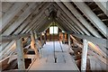 TL3746 : Topcliffe Watermill - Bin floor by Ashley Dace