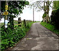 ST7960 : Danger - overhead cables, Station Road, Freshford by Jaggery