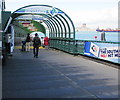 SU6200 : Covered walkway to Gosport Ferry, Portsmouth Harbour by Jaggery