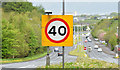 J4474 : 40mph sign, Dundonald (May 2015) by Albert Bridge