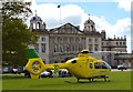 ST8082 : Badminton Horse Trials 2015: air ambulance by Jonathan Hutchins