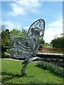 SU8503 : Chichester Ship Canal - Butterfly sculpture #1 by Rob Farrow