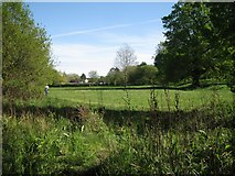 SP2865 : View south across lower Priory Park, Warwick by Robin Stott