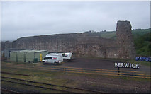 NT9953 : Berwick Castle by JThomas