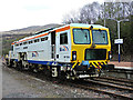 NS2491 : Tamper vehicle at Garelochhead railway station by Thomas Nugent
