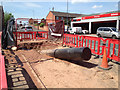 SP2965 : The duct for the 33kV cable emerges on the south side of Emscote Road, Warwick by Robin Stott