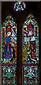 SK9480 : Stained glass window, St Cuthbert's church, Brattleby by Julian P Guffogg