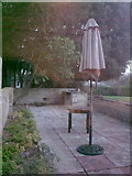 TM3876 : Patio at Highfield Residential Home by Adrian Cable