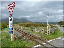 SH6041 : Level crossing 54.67, Welsh Highland Railway by Robin Webster