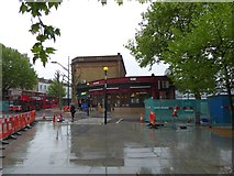 TQ3179 : A wet day in the Lambeth Road, SE1 by David Smith