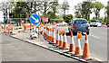 J3784 : Roadworks, Greenisland (May 2015) by Albert Bridge
