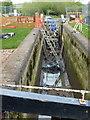 SP5374 : Repairs on Hillmorton Bottom Lock 2 by Mat Fascione