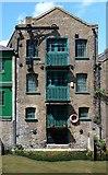 TQ3680 : Former warehouse, Dunbar Wharf, Limekiln Dock, London E14 by Julian Osley