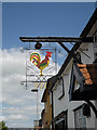 TM1179 : The Cock Inn Public House sign by Adrian Cable