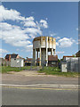 TM1180 : Diss Water Tower off Louie's Lane by Adrian Cable