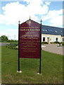 TM1180 : St.Henry Morse Catholic Church sign by Adrian Cable