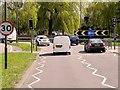 TQ0670 : A308, Fordbridge Roundabout by David Dixon