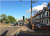 SK5838 : A May evening on Radcliffe Road by John Sutton