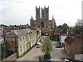SK9771 : Lincoln Cathedral from castle walls by David Hawgood