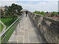 SK9771 : Lincoln Castle walls walkway by David Hawgood