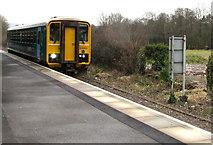 SN6212 : Shrewsbury train leaves Ammanford railway station by Jaggery