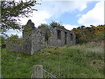 SX6193 : The ruins of Watchet Hill Cottage, Belstone by David Smith