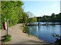 SE3338 : Waterloo Lake, Roundhay Park, Leeds by Humphrey Bolton