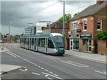 SK5236 : Tram on test on Chilwell High Road by Alan Murray-Rust