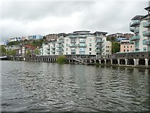 ST5772 : Flats at Western Wharf, below Clifton Wood by Christine Johnstone
