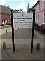 TM1180 : Diss Town Council Offices sign by Adrian Cable