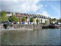 ST5772 : Colourful houses above Mardyke Wharf by Christine Johnstone
