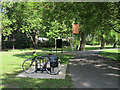 TQ3578 : Southwark Park: cycle rack by Stephen Craven