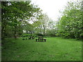SE9061 : Picnic tables at Fimber picnic site by Jonathan Thacker